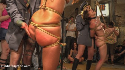 Photo number 9 from Pet Bitches Disgraced on Public Walk shot for Public Disgrace on Kink.com. Featuring Steve Holmes, Juan Lucho, Silvia Rubi, Lilith Optima, Ichi the Lorean  and Natalia Ruso in hardcore BDSM & Fetish porn.