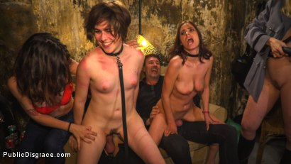 Photo number 18 from Pet Bitches Disgraced on Public Walk shot for Public Disgrace on Kink.com. Featuring Steve Holmes, Juan Lucho, Silvia Rubi, Lilith Optima, Ichi the Lorean  and Natalia Ruso in hardcore BDSM & Fetish porn.