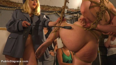 Photo number 6 from Pet Bitches Disgraced on Public Walk shot for Public Disgrace on Kink.com. Featuring Steve Holmes, Juan Lucho, Silvia Rubi, Lilith Optima, Ichi the Lorean  and Natalia Ruso in hardcore BDSM & Fetish porn.