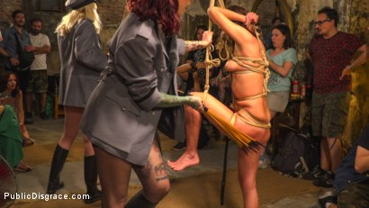 Photo number 7 from Pet Bitches Disgraced on Public Walk shot for Public Disgrace on Kink.com. Featuring Steve Holmes, Juan Lucho, Silvia Rubi, Lilith Optima, Ichi the Lorean  and Natalia Ruso in hardcore BDSM & Fetish porn.
