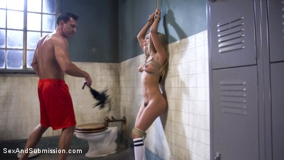 Photo number 4 from Gym Bunny Gets Fucked shot for Sex And Submission on Kink.com. Featuring Marco Banderas and Kat Dior in hardcore BDSM & Fetish porn.