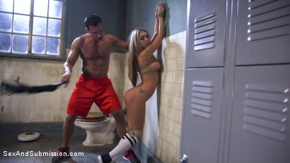 Photo number 5 from Gym Bunny Gets Fucked shot for Sex And Submission on Kink.com. Featuring Marco Banderas and Kat Dior in hardcore BDSM & Fetish porn.