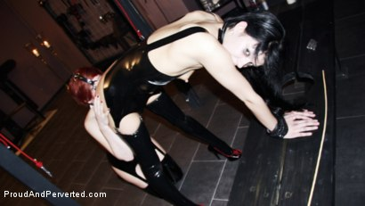 Photo number 12 from Lashings For Lust Part 2: Miss Velour, Dissolved, and Veronika Toft shot for Proud and Perverted on Kink.com. Featuring  in hardcore BDSM & Fetish porn.