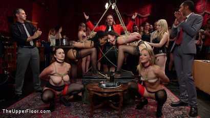 Photo number 3 from A Slave Orgy Like No Other shot for The Upper Floor on Kink.com. Featuring Aiden Starr, Lilith Luxe, Mona Wales, Mickey Mod, Marco Banderas, Bella Rossi and Kira Noir in hardcore BDSM & Fetish porn.