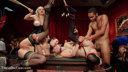 Photo number 29 from A Slave Orgy Like No Other shot for The Upper Floor on Kink.com. Featuring Aiden Starr, Lilith Luxe, Mona Wales, Mickey Mod, Marco Banderas, Bella Rossi and Kira Noir in hardcore BDSM & Fetish porn.