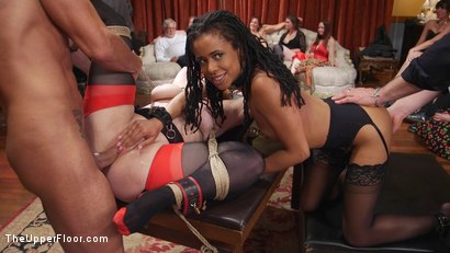 Photo number 7 from Slave Orgy Unchained shot for The Upper Floor on Kink.com. Featuring Aiden Starr, Lilith Luxe, Mona Wales, Mickey Mod, Marco Banderas, Bella Rossi and Kira Noir in hardcore BDSM & Fetish porn.
