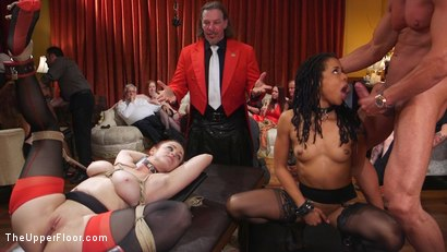 Photo number 2 from Slave Orgy Unchained shot for The Upper Floor on Kink.com. Featuring Aiden Starr, Lilith Luxe, Mona Wales, Mickey Mod, Marco Banderas, Bella Rossi and Kira Noir in hardcore BDSM & Fetish porn.
