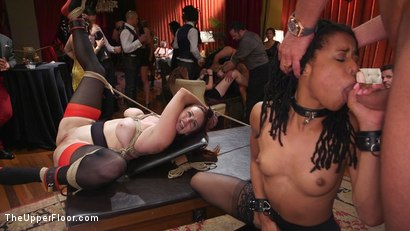 Photo number 3 from Slave Orgy Unchained shot for The Upper Floor on Kink.com. Featuring Aiden Starr, Lilith Luxe, Mona Wales, Mickey Mod, Marco Banderas, Bella Rossi and Kira Noir in hardcore BDSM & Fetish porn.