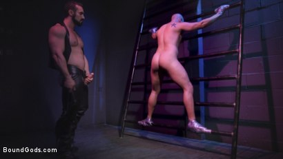 Photo number 7 from Sex Club Owner Fucks and Torments an Obnoxious Party Goer  shot for Bound Gods on Kink.com. Featuring Eli Hunter and Jaxton Wheeler in hardcore BDSM & Fetish porn.