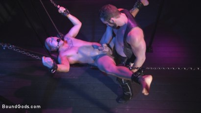 Photo number 14 from Sex Club Owner Fucks and Torments an Obnoxious Party Goer  shot for Bound Gods on Kink.com. Featuring Eli Hunter and Jaxton Wheeler in hardcore BDSM & Fetish porn.