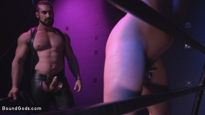 Photo number 8 from Sex Club Owner Fucks and Torments an Obnoxious Party Goer  shot for Bound Gods on Kink.com. Featuring Eli Hunter and Jaxton Wheeler in hardcore BDSM & Fetish porn.