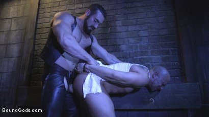 Photo number 3 from Sex Club Owner Fucks and Torments an Obnoxious Party Goer  shot for Bound Gods on Kink.com. Featuring Eli Hunter and Jaxton Wheeler in hardcore BDSM & Fetish porn.