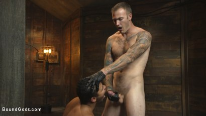 Photo number 14 from Straight Boy Begs for Hard Torment shot for Bound Gods on Kink.com. Featuring Christian Wilde and Kaden Alexander in hardcore BDSM & Fetish porn.