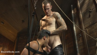 Photo number 11 from Straight Boy Begs for Hard Torment shot for Bound Gods on Kink.com. Featuring Christian Wilde and Kaden Alexander in hardcore BDSM & Fetish porn.