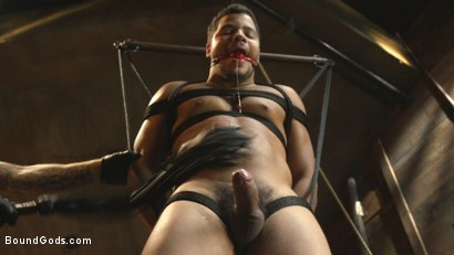 Photo number 8 from Straight Boy Begs for Hard Torment shot for Bound Gods on Kink.com. Featuring Christian Wilde and Kaden Alexander in hardcore BDSM & Fetish porn.