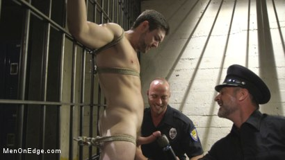 Photo number 5 from Horny Pervert Takes Some Rough Justice  shot for Men On Edge on Kink.com. Featuring Griffin Barrows in hardcore BDSM & Fetish porn.