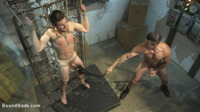 Photo number 11 from Don't FUCK with the creepy handyman! shot for Bound Gods on Kink.com. Featuring Trenton Ducati and Griffin Barrows in hardcore BDSM & Fetish porn.