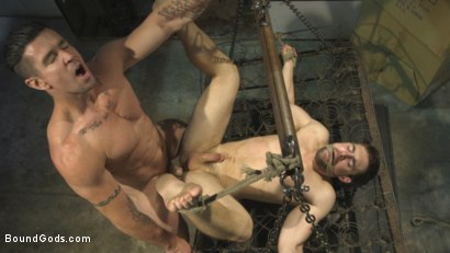 Photo number 14 from Don't FUCK with the creepy handyman! shot for Bound Gods on Kink.com. Featuring Trenton Ducati and Griffin Barrows in hardcore BDSM & Fetish porn.