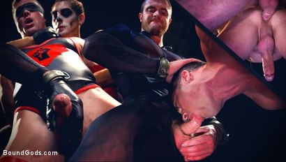 Photo number 15 from Bound Gods Presents: The Kink Avenger - Breaking Point shot for Bound Gods on Kink.com. Featuring Scott Ambrose and Lance Hart in hardcore BDSM & Fetish porn.