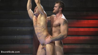 Photo number 11 from Bound Gods Presents: The Kink Avenger - Breaking Point shot for Bound Gods on Kink.com. Featuring Scott Ambrose and Lance Hart in hardcore BDSM & Fetish porn.