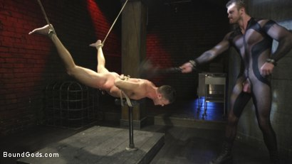 Photo number 7 from Bound Gods Presents: The Kink Avenger - Breaking Point shot for Bound Gods on Kink.com. Featuring Scott Ambrose and Lance Hart in hardcore BDSM & Fetish porn.