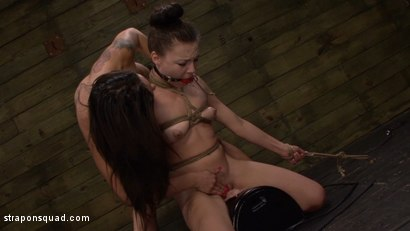 Photo number 3 from Another Round of Lesbian Domination with Nikki Bell & Isa Mendez shot for Strapon Squad on Kink.com. Featuring  in hardcore BDSM & Fetish porn.