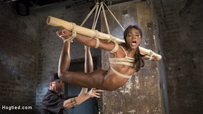 Photo number 13 from Stunning Ebony Slut in Brutal Bondage and Tormented shot for Hogtied on Kink.com. Featuring Ana Foxxx and The Pope in hardcore BDSM & Fetish porn.