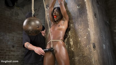 Photo number 1 from Stunning Ebony Slut in Brutal Bondage and Tormented shot for Hogtied on Kink.com. Featuring Ana Foxxx and The Pope in hardcore BDSM & Fetish porn.