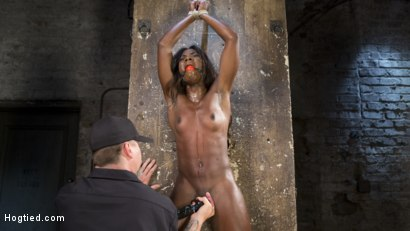 Photo number 9 from Stunning Ebony Slut in Brutal Bondage and Tormented shot for Hogtied on Kink.com. Featuring Ana Foxxx and The Pope in hardcore BDSM & Fetish porn.