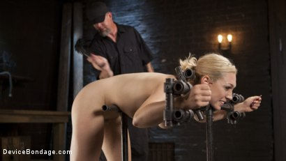 Photo number 14 from A Sadists Dream Come True shot for Device Bondage on Kink.com. Featuring Lily LaBeau and The Pope in hardcore BDSM & Fetish porn.