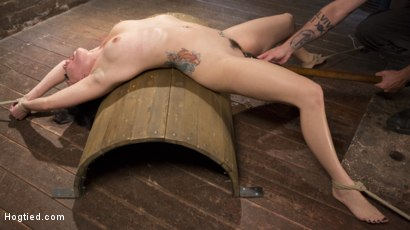 Photo number 11 from Slut Begs for Extreme Bondage and Grueling Torment to Make Her Cum shot for Hogtied on Kink.com. Featuring Rachael Madori and The Pope in hardcore BDSM & Fetish porn.