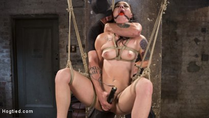 Photo number 15 from Slut Begs for Extreme Bondage and Grueling Torment to Make Her Cum shot for Hogtied on Kink.com. Featuring Rachael Madori and The Pope in hardcore BDSM & Fetish porn.