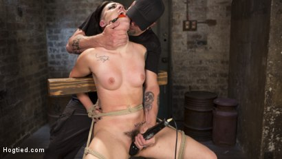 Photo number 14 from Slut Begs for Extreme Bondage and Grueling Torment to Make Her Cum shot for Hogtied on Kink.com. Featuring Rachael Madori and The Pope in hardcore BDSM & Fetish porn.