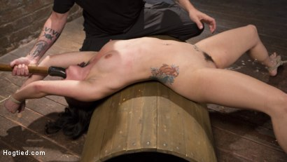 Photo number 4 from Slut Begs for Extreme Bondage and Grueling Torment to Make Her Cum shot for Hogtied on Kink.com. Featuring Rachael Madori and The Pope in hardcore BDSM & Fetish porn.