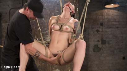 Photo number 10 from Slut Begs for Extreme Bondage and Grueling Torment to Make Her Cum shot for Hogtied on Kink.com. Featuring Rachael Madori and The Pope in hardcore BDSM & Fetish porn.