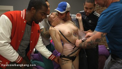 Photo number 12 from Spunky Cheerleader Gets All Her Holes Stuffed!! shot for Hardcore Gangbang on Kink.com. Featuring Arielle Aquinas, Gage Sin, Small Hands, Mickey Mod, Will Havoc and John Johnson in hardcore BDSM & Fetish porn.