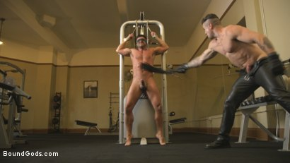 "Photo number 10 from ""This isn't fucking Zumba!!!"" shot for Bound Gods on Kink.com. Featuring Dominic Pacifico and Trenton Ducati in hardcore BDSM & Fetish porn."