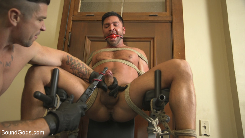 Mercilessly paddling his balls until he cums 2 of 3 8
