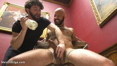 Photo number 3 from 9 in cock edged in mid-air & has the cum drained from his aching balls shot for Men On Edge on Kink.com. Featuring Dylan Strokes in hardcore BDSM & Fetish porn.