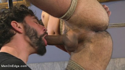 Photo number 4 from 9 in cock edged in mid-air & has the cum drained from his aching balls shot for Men On Edge on Kink.com. Featuring Dylan Strokes in hardcore BDSM & Fetish porn.