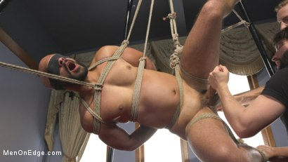 Photo number 5 from 9 in cock edged in mid-air & has the cum drained from his aching balls shot for Men On Edge on Kink.com. Featuring Dylan Strokes in hardcore BDSM & Fetish porn.