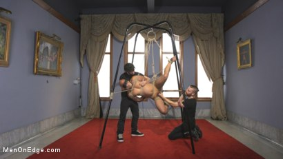 Photo number 7 from 9 in cock edged in mid-air & has the cum drained from his aching balls shot for Men On Edge on Kink.com. Featuring Dylan Strokes in hardcore BDSM & Fetish porn.