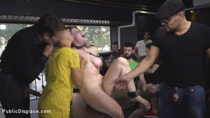 Photo number 13 from Hungary for Lucia Love shot for Public Disgrace on Kink.com. Featuring Steve Holmes, Amirah Adara, Antonio Ross, Lucia Love and Nikki Thorne in hardcore BDSM & Fetish porn.