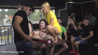 Photo number 18 from Hungary for Lucia Love shot for Public Disgrace on Kink.com. Featuring Steve Holmes, Amirah Adara, Antonio Ross, Lucia Love and Nikki Thorne in hardcore BDSM & Fetish porn.