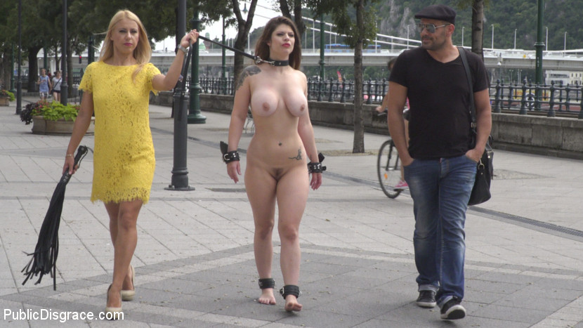 Pain slut hungary for painful and degrading public sex