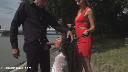 Photo number 9 from Cock Thirsty in Hungary  shot for Public Disgrace on Kink.com. Featuring Steve Holmes, Tina Kay, RAM, Laurita and Lia in hardcore BDSM & Fetish porn.
