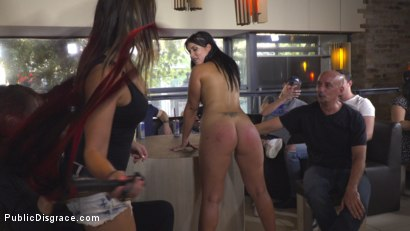Photo number 15 from Nervous Newbie Naomi Gets Fucked in her Neighborhood shot for Public Disgrace on Kink.com. Featuring Steve Holmes, Sandra Romain, RAM and Naomi in hardcore BDSM & Fetish porn.