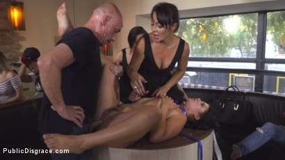 Photo number 21 from Nervous Newbie Naomi Gets Fucked in her Neighborhood shot for Public Disgrace on Kink.com. Featuring Steve Holmes, Sandra Romain, RAM and Naomi in hardcore BDSM & Fetish porn.
