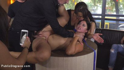 Photo number 22 from Nervous Newbie Naomi Gets Fucked in her Neighborhood shot for Public Disgrace on Kink.com. Featuring Steve Holmes, Sandra Romain, RAM and Naomi in hardcore BDSM & Fetish porn.