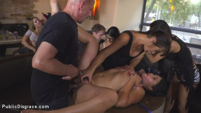 Photo number 24 from Nervous Newbie Naomi Gets Fucked in her Neighborhood shot for Public Disgrace on Kink.com. Featuring Steve Holmes, Sandra Romain, RAM and Naomi in hardcore BDSM & Fetish porn.